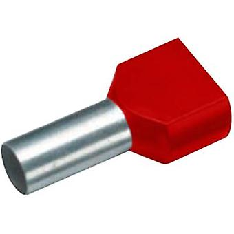 Twin ferrule 2 x 1.50 mm² x 8 mm Partially insulated Red Cimco