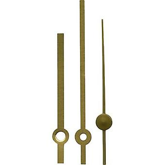 Clockhand set Brass Brass Round