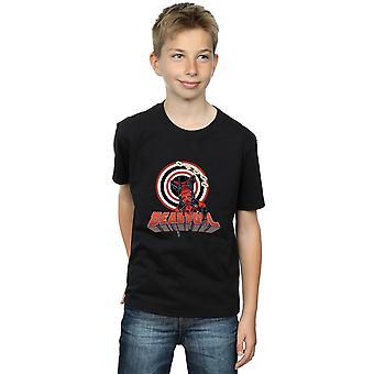 Marvel Boys Deadpool Upside Down T-Shirt