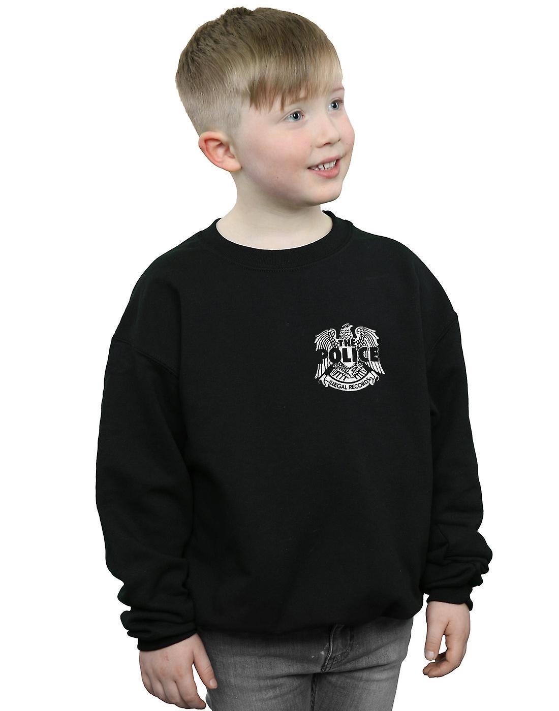 La Police Boys Records illégale Eagle poitrine Sweatshirt