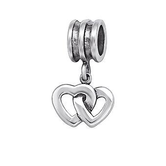Hjerte - 925 Sterling Sølv Plain perler - W29551X