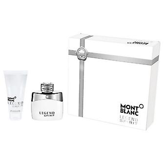 Montblanc Legend Spirit Eau de Toilette Spray 100 ml Set 2 Piezas (Perfumes , Packs)