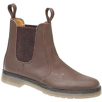 Amblers Mens Chelmsford Pull On Leather Dealer Boot Brown