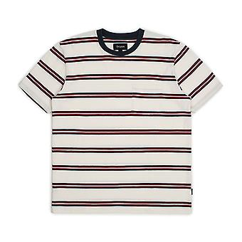 Brixton Hilt Washed Pocket T-Shirt White Navy Red