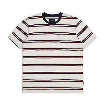 Brixton Hilt Washed Pocket T-Shirt White Navy Red