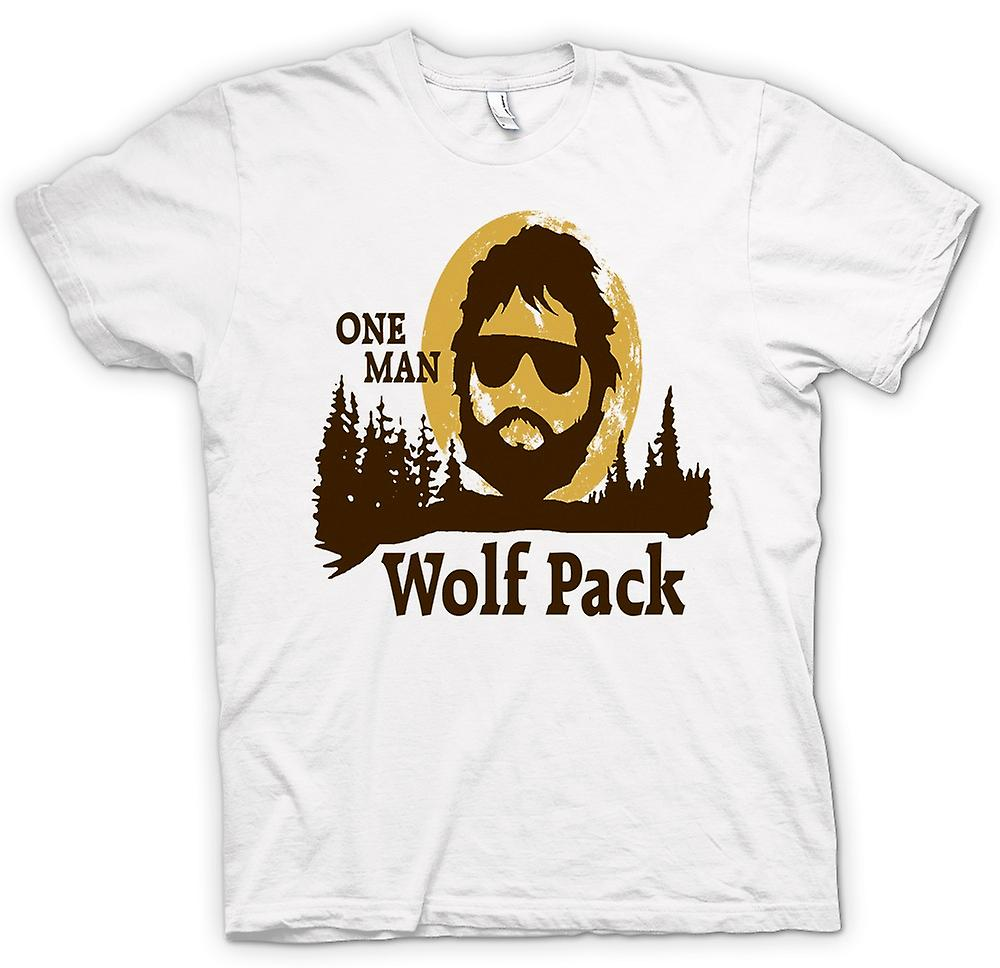 Womens T-shirt - The Hangover One Man Wolf Pack - Funny