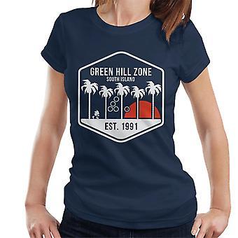 Sonic Hedgehog Green Hill Zone Süd Insel Damen T-Shirt