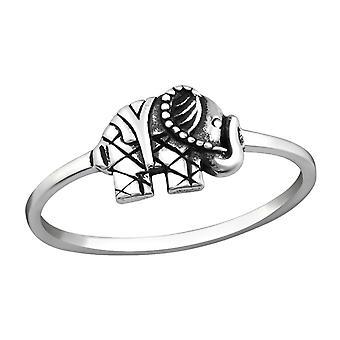 Elephant - 925 Sterling Silver Plain Rings - W37228x
