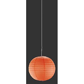 若い生きているオレンジ色の紙のペンダント照明・ トリオ