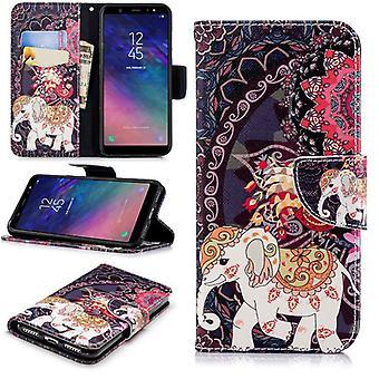 Väska Plånbok bok mönster motiv 40 för Smartphone skydd ärm fall täcka påse