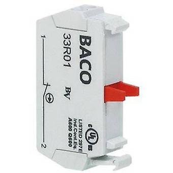 Contact 1 breaker momentary 600 V BACO 33R01 1 pc(s)
