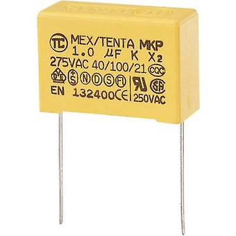 MKP-X2 1 pc(s) MKP-X2 suppression capacitor Radial lead 1 µF 275 V AC 10 % 27.5 mm (L x W x H) 32 x 13 x 23 mm