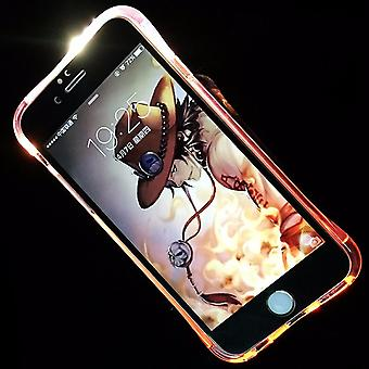 Mobile Shell LED Licht call for mobile Samsung Galaxy A5 2017 pink