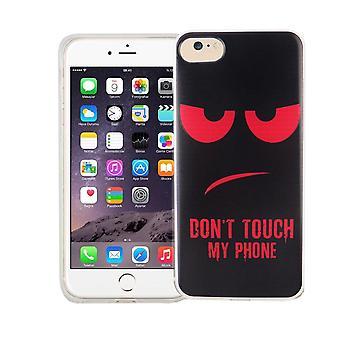 Mobiele telefoon geval voor Apple iPhone 8 cover case beschermende zak motief slanke siliconen TPU raak niet mijn telefoon rood