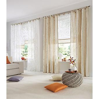 «My home 2 set Curtain» Campinas «Ribbon beige squiggle H/W 145 x 140 cm.