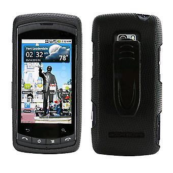 Body Glove Snap-On Case with Belt Clip for LG Ally VS740 (Black)