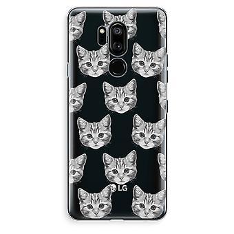LG G7 Thinq Transparent Case (Soft) - Kitten