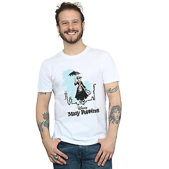 Disney Men's Mary Poppins Rooftop Landing Colour T-Shirt