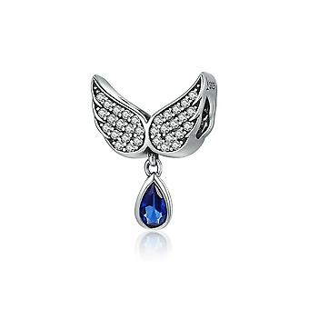 Sterling zilveren hanger charme Angel wings veer
