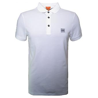 Hugo Boss Orange Men's Slim Fit White Pavlik Polo Shirt