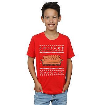 Friends Boys Fair Isle Couch T-Shirt