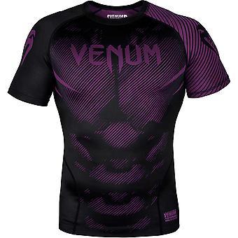 Venum No-Gi 2.0 Short Sleeve MMA Compression Rashguard - Black/Purple