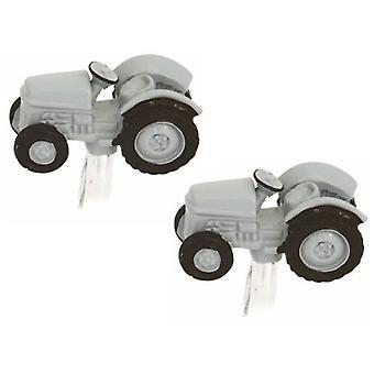 Zennor Vintage Tractor Cufflinks - Grey
