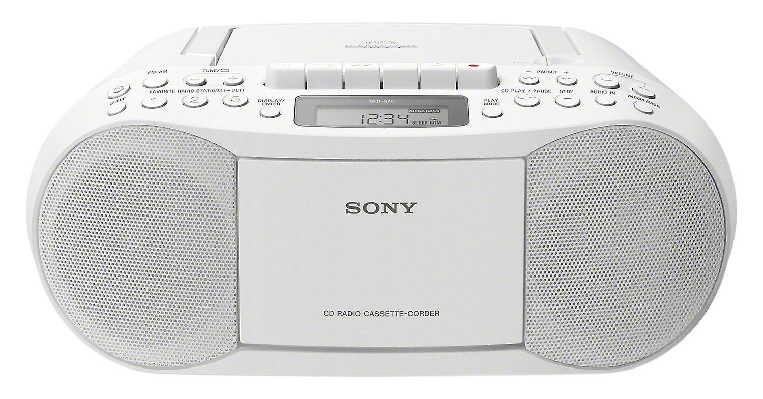 Sony CFD-S70 White Classic CD and Tape Recorder Boombox