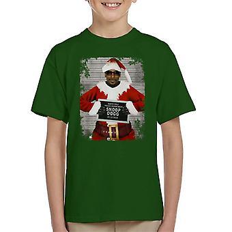 Christmas Mugshot Snoop Dogg Kid's T-Shirt