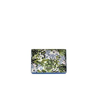 PINKO GREEN FLOWERS SIBILO CARD HOLDER