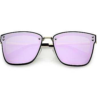 女性の正方形大型偏光サングラス色ミラー レンズ 60 mm