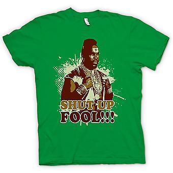 Mens t-skjorte-Mr T kjeft Fool A-Team