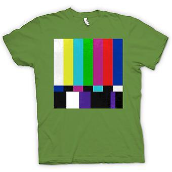 Womens T-shirt - TV Technical Screen 80s Retro