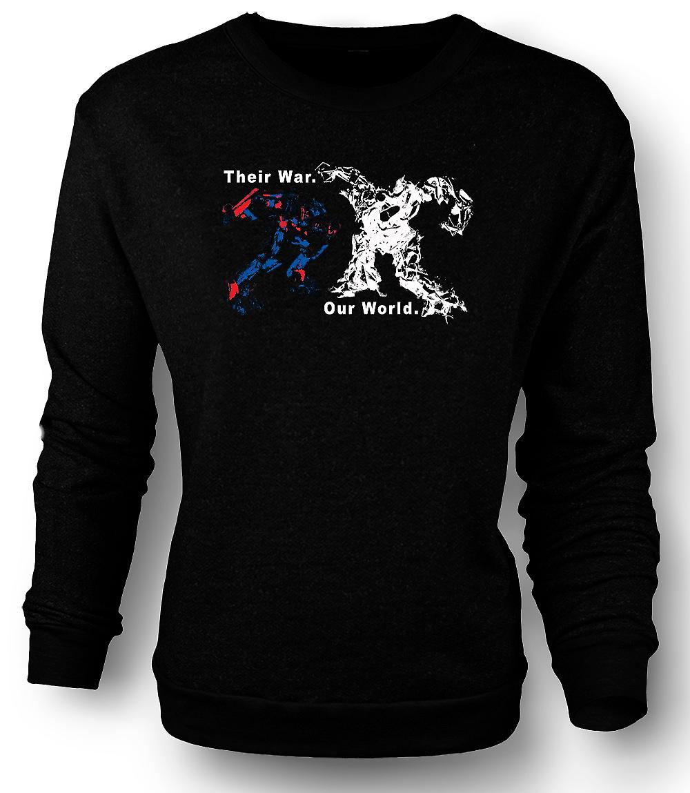 Mens Sweatshirt Transformers War - Optimus Prime