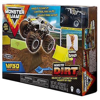 Monster Jam 1:64 Scale Die-Cast Truck Monster Dirt Deluxe Set, Assorted Colours