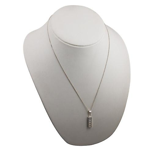 Silver 22x8mm solid display hallmark Ingot quarter of an ounce Pendant on a bail with a curb Chain 22 inches