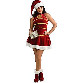Sexy Santa Plus størrelse kostume