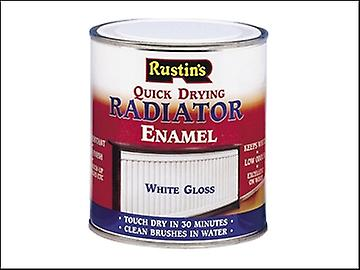 Rustins Quick Dry Radiator Enamel Paint Gloss White 500ml