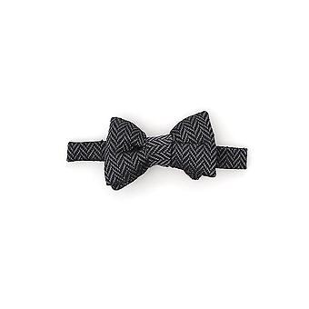 Tom Ford Grey/black Silk Bow Tie
