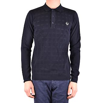 Fred Perry Blue Cotton Polo Shirt