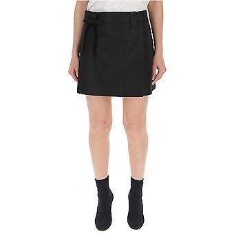 Prada Black Cotton Skirt