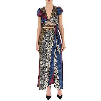 Andamane Multicolor Cotton Dress