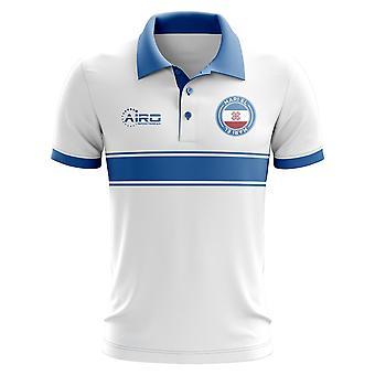 Mari El Concept Stripe Polo Shirt (White) - Kids