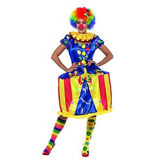 Damen Clown Manegenkleid Zirkuszelt Karneval