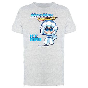 Mega Man Powered Up Ice Man Videogame Graphic Men's T-shirt