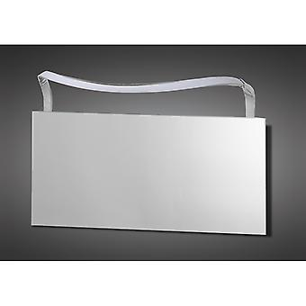Sisley Wandleuchte 12w Led Big Wave Ip44 4000k, 950lm, Silber/Frosted Acryl/poliert Chrome, 3 Jahre Garantie