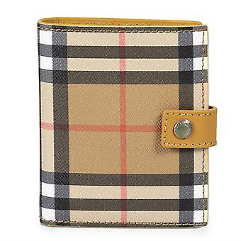 Burberry Small Vintage Check and Tan Leather Folding Wallet