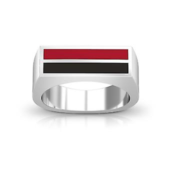 San Diego State University Enamel Ring In Red And Black
