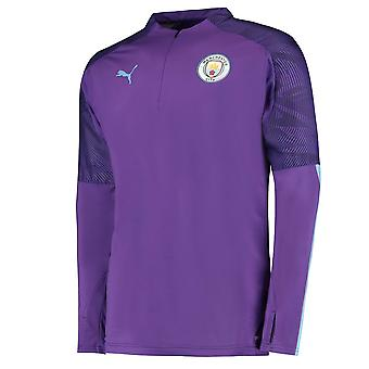 Puma Manchester City 2019/20 Mens Quarter Zip Training Top Jacket Purple