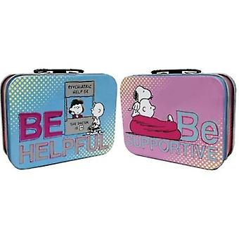 Lunch Box - Peanuts - Be Helpful/Be Supportive Mini Tin Tote New Tin Case 24430